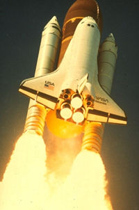 A lot of energy is converted fast in the space shuttle.